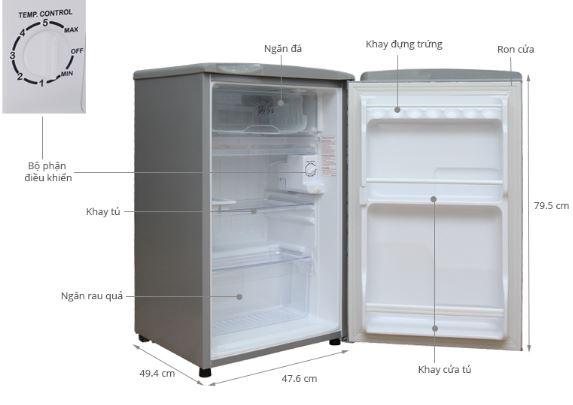 Cấu tạo của tủ lạnh mini giá rẻ (loại dùng máy nén)