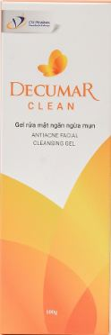 Gel rửa mặt ngừa mụn Decumar Clean