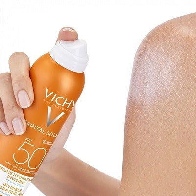 Kem chống nắng vichy dạng xịt spf 50 pa+++ ideal soleil invisible hydrating mist