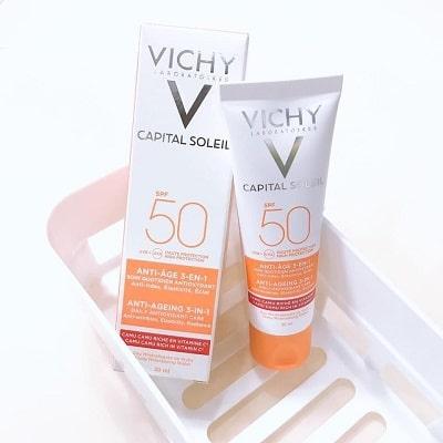 Kem chống nắng vichy spf50+,capital soleil anti-dark spot 3