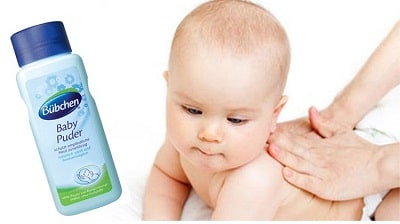 Phấn rôm em bé Bubchen Baby Puder của Đức