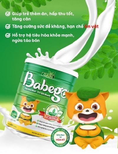 Sữa thảo dược chùm ngây Babego 4