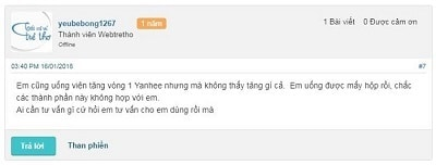 Review thuốc nở ngực Thái Lan Yanhee có tốt không