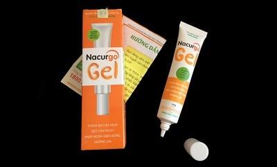 Thuốc trị viêm nang lông Nacurgogel.