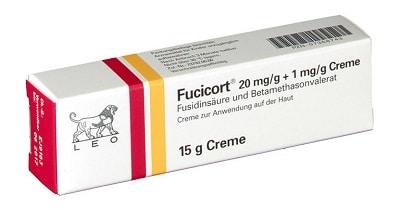 Thuốc trị viêm nang lông Fucicort.