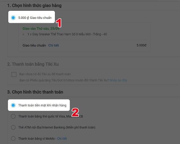 Cách mua hàng Tiki trên máy tính thông qua Website