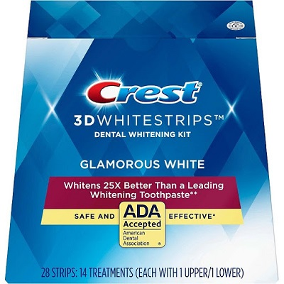 miếng dán trắng răng Crest